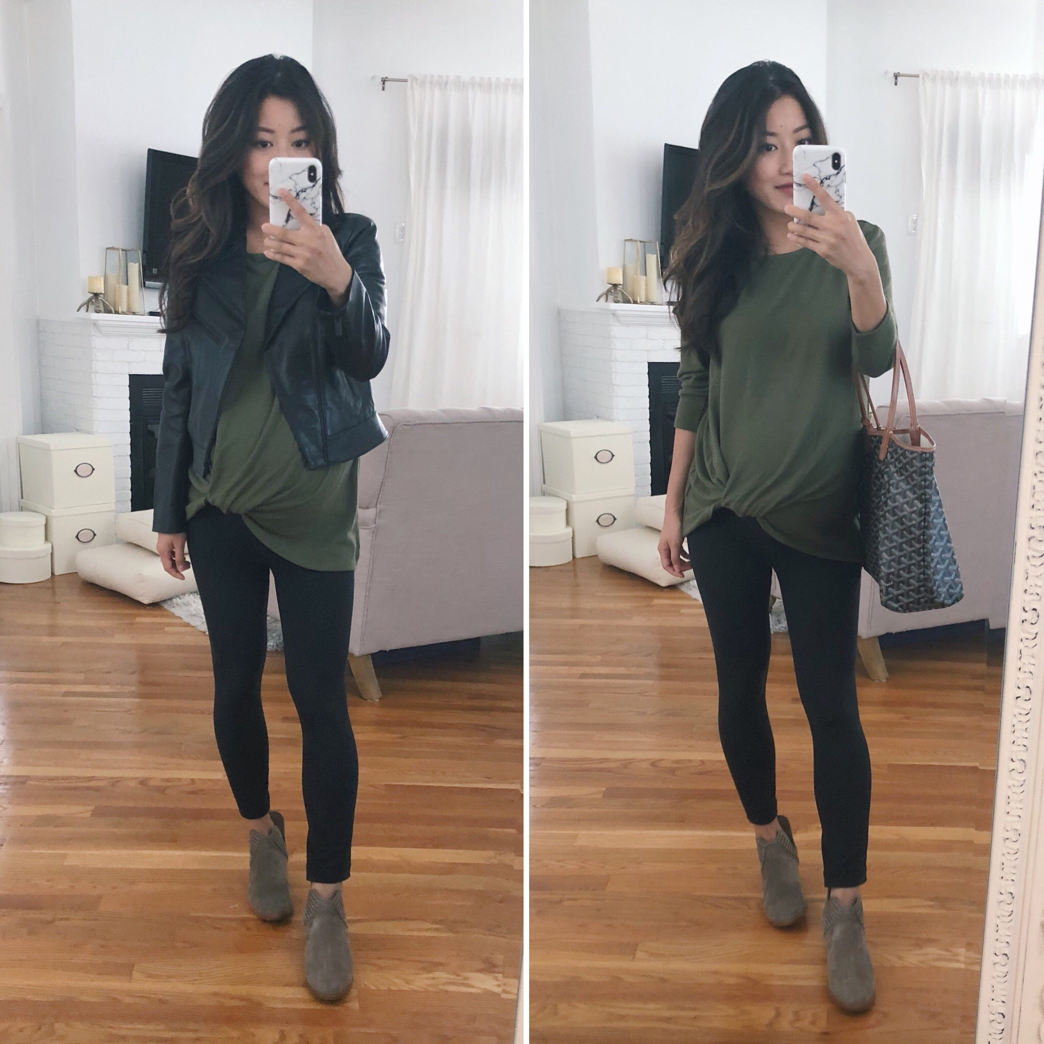 petite leather jacket maternity leggings