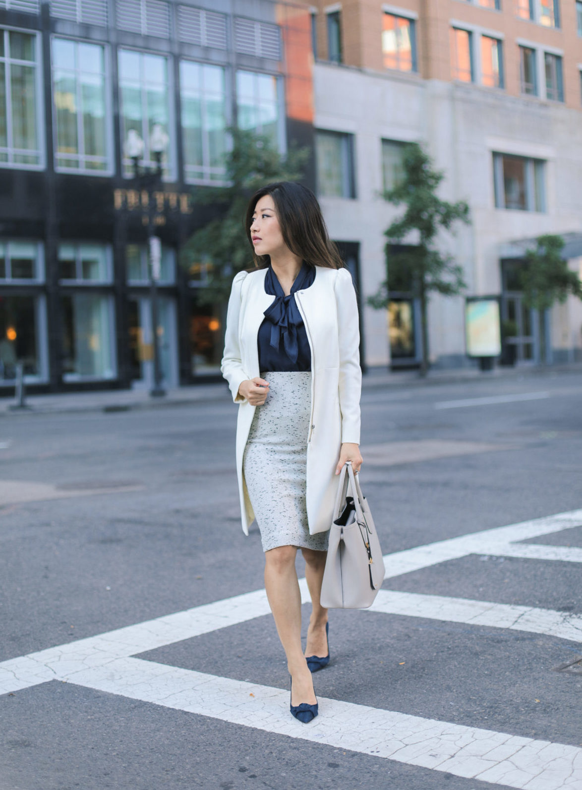 petite fashion blog boston office work wear