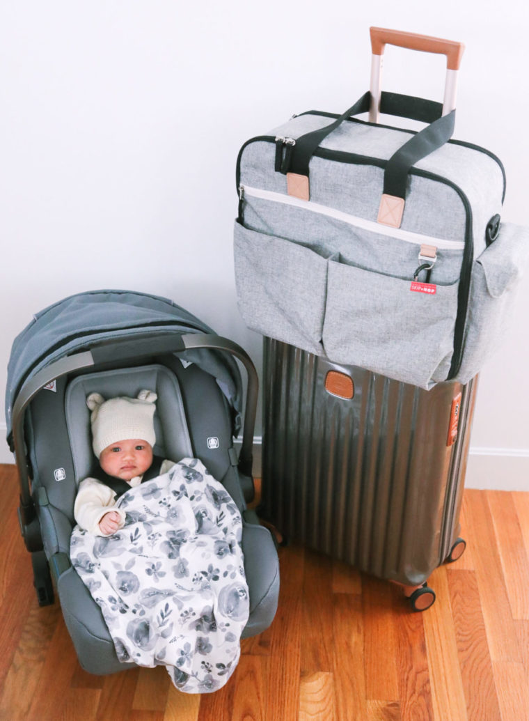 nuna pipa carseat skiphop weekender diaper bag review