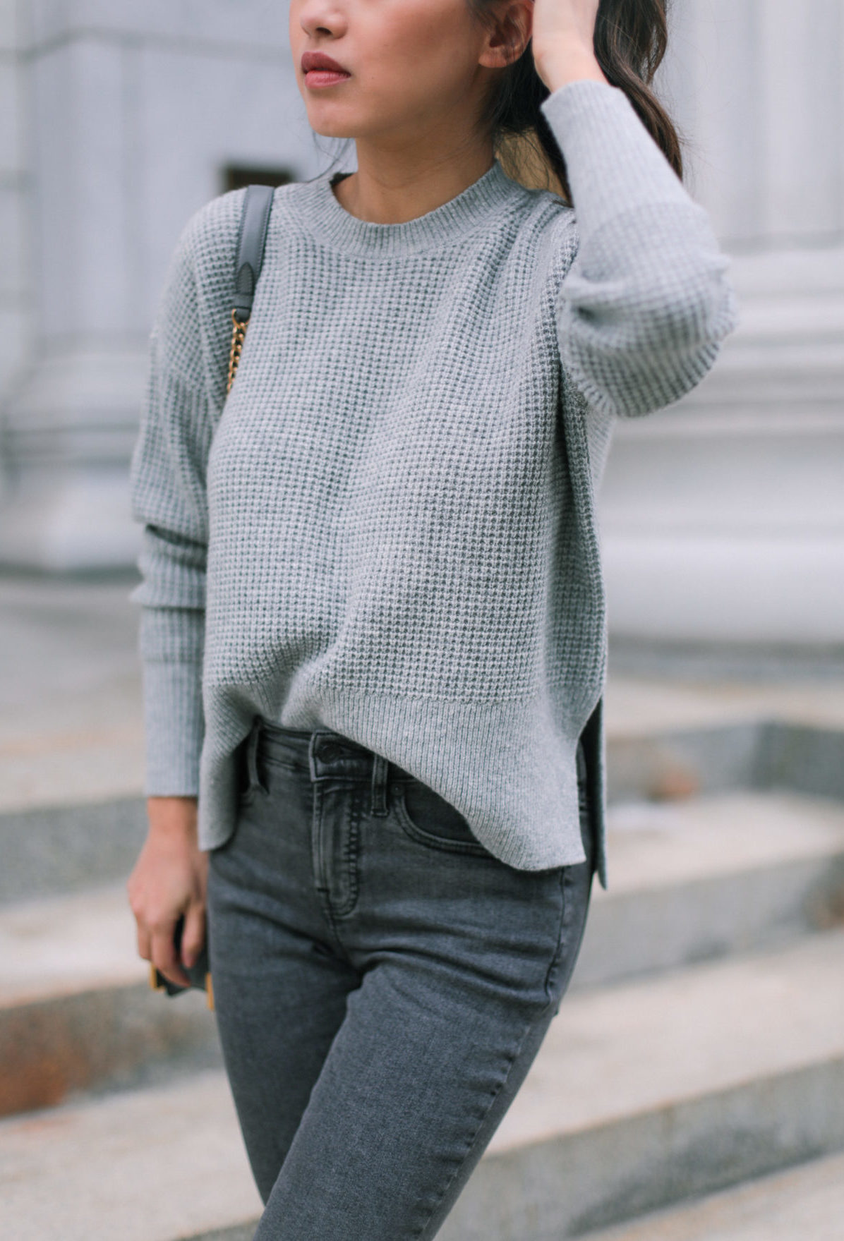 everlane cashmere sweater extra petite boston style blog