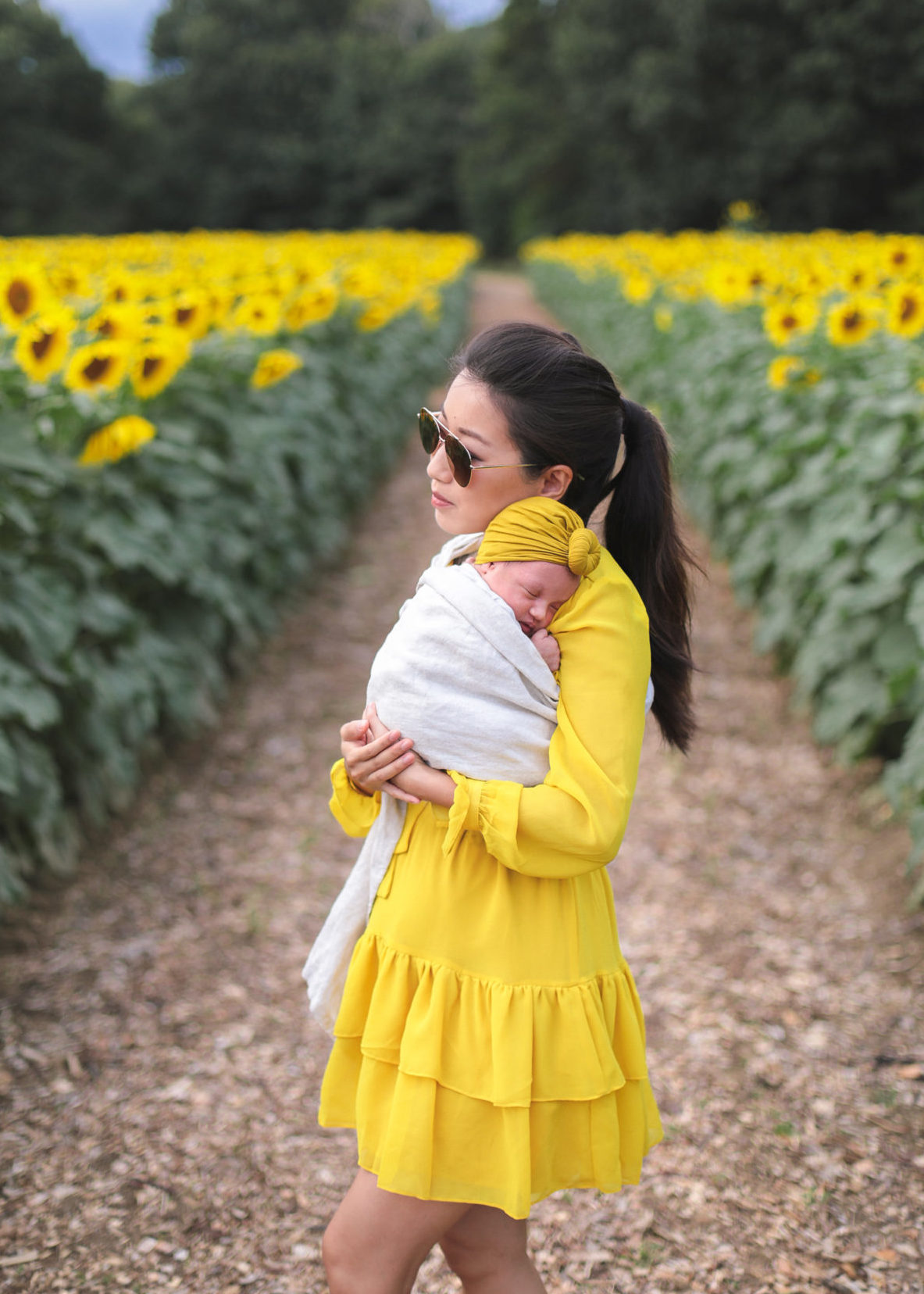 sakura bloom baby sling wrap