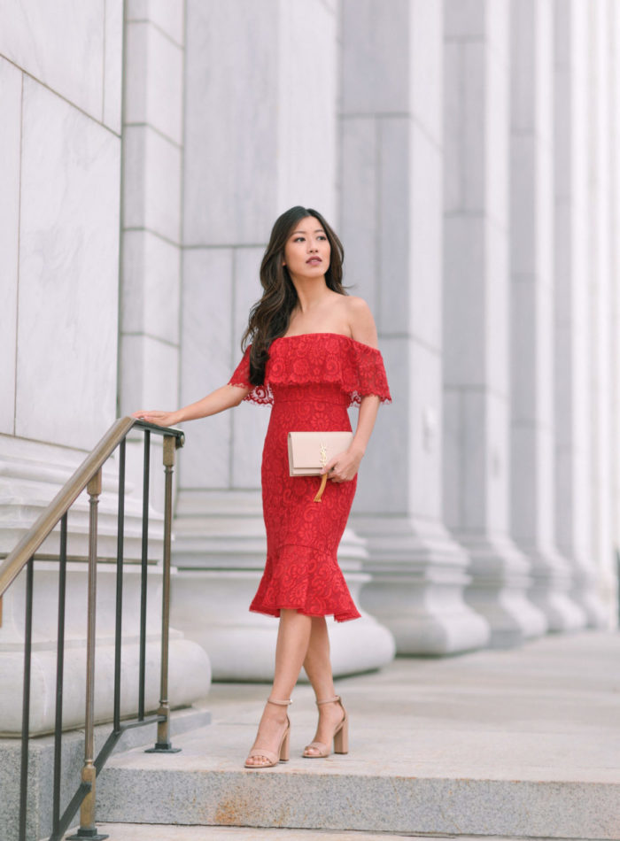 petite fashion blog dressy holiday party outfit