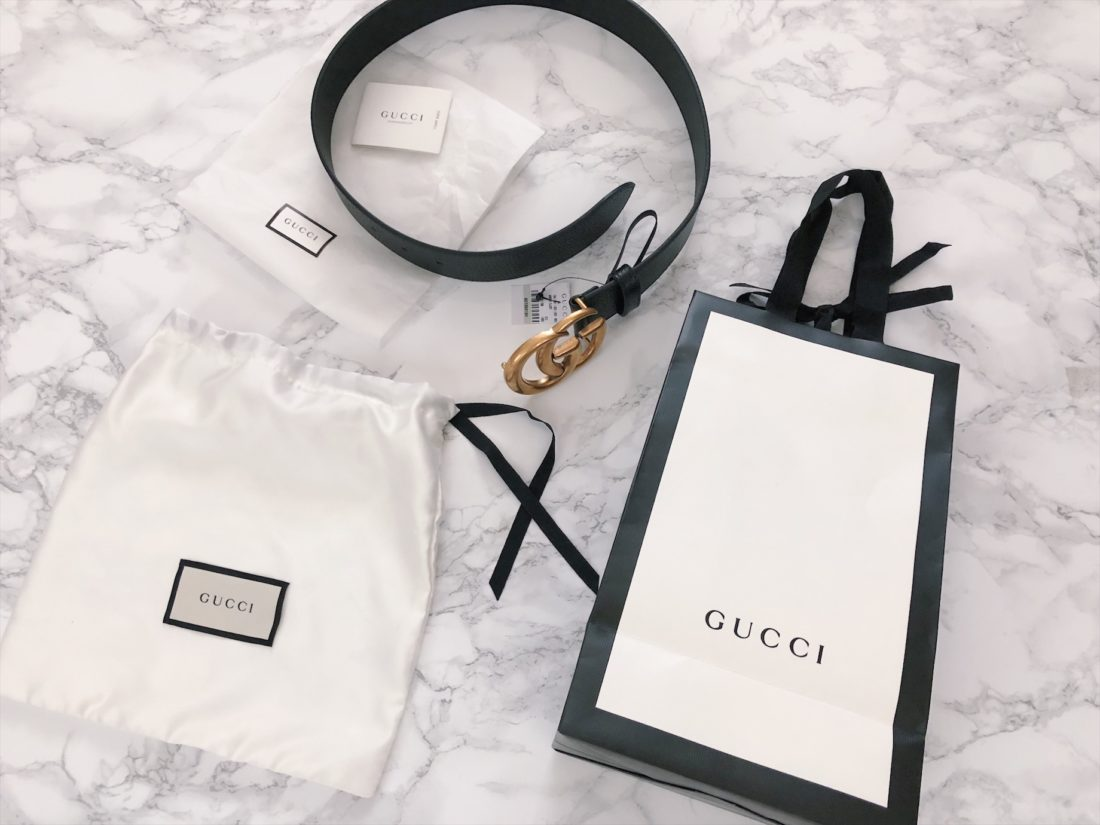 gucci belt online orders gift bag packaging
