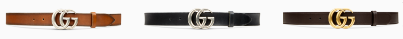 gucci belt colors and hardware options