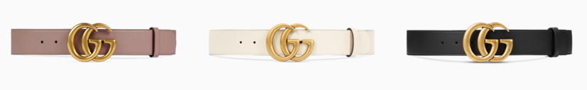 gucci belt colors and buckles