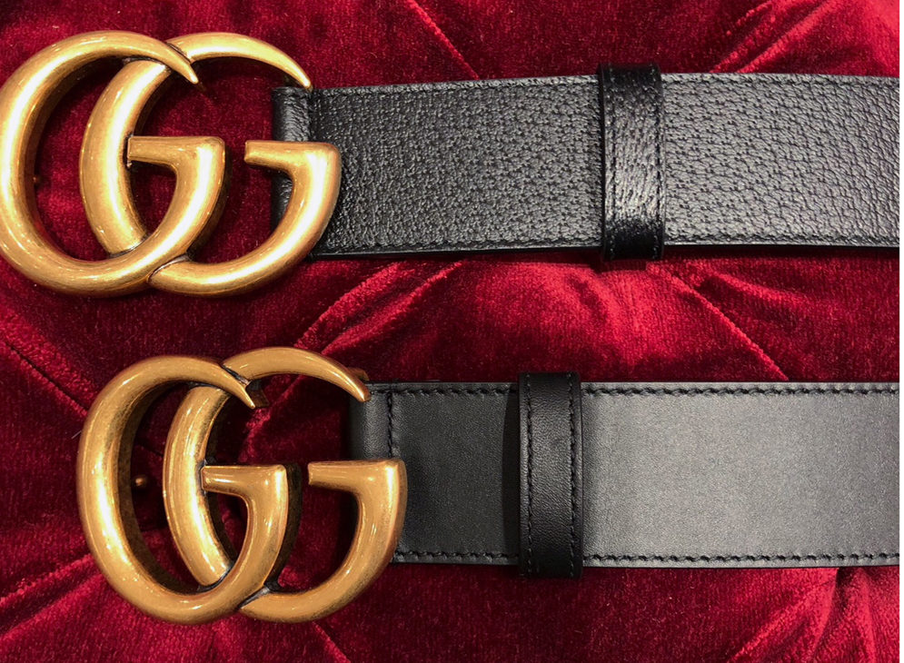 gucci belt textured or smooth leather