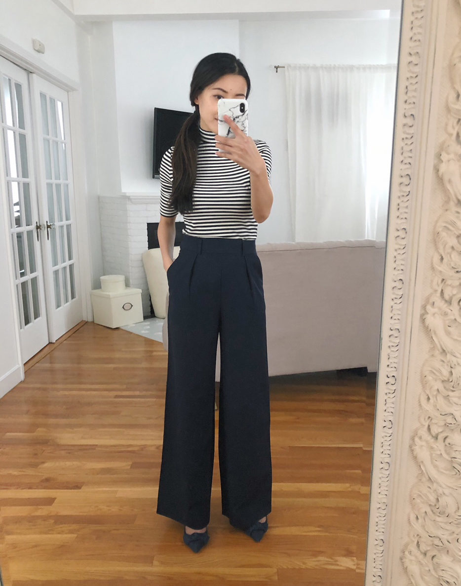 wide leg trouser pants for petite women