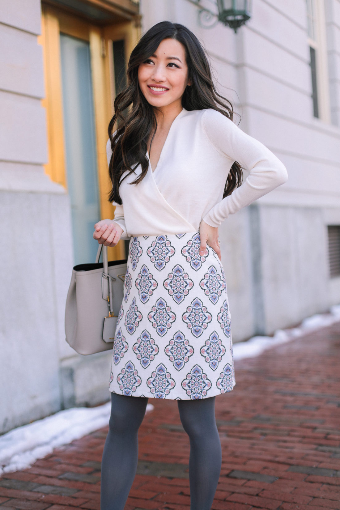 winter workwear office style for petites