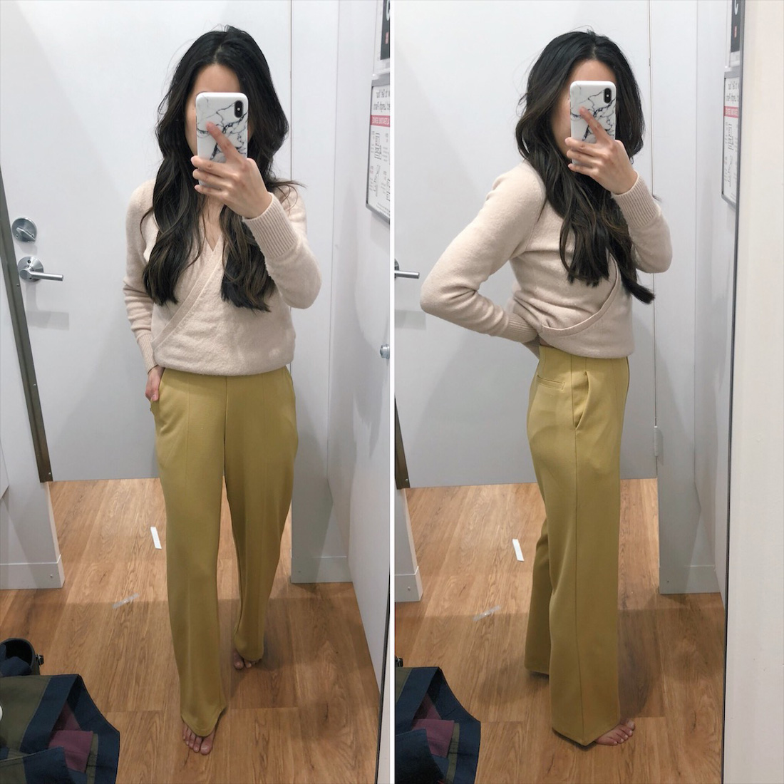 uniqlo ponte wide leg pants for petites
