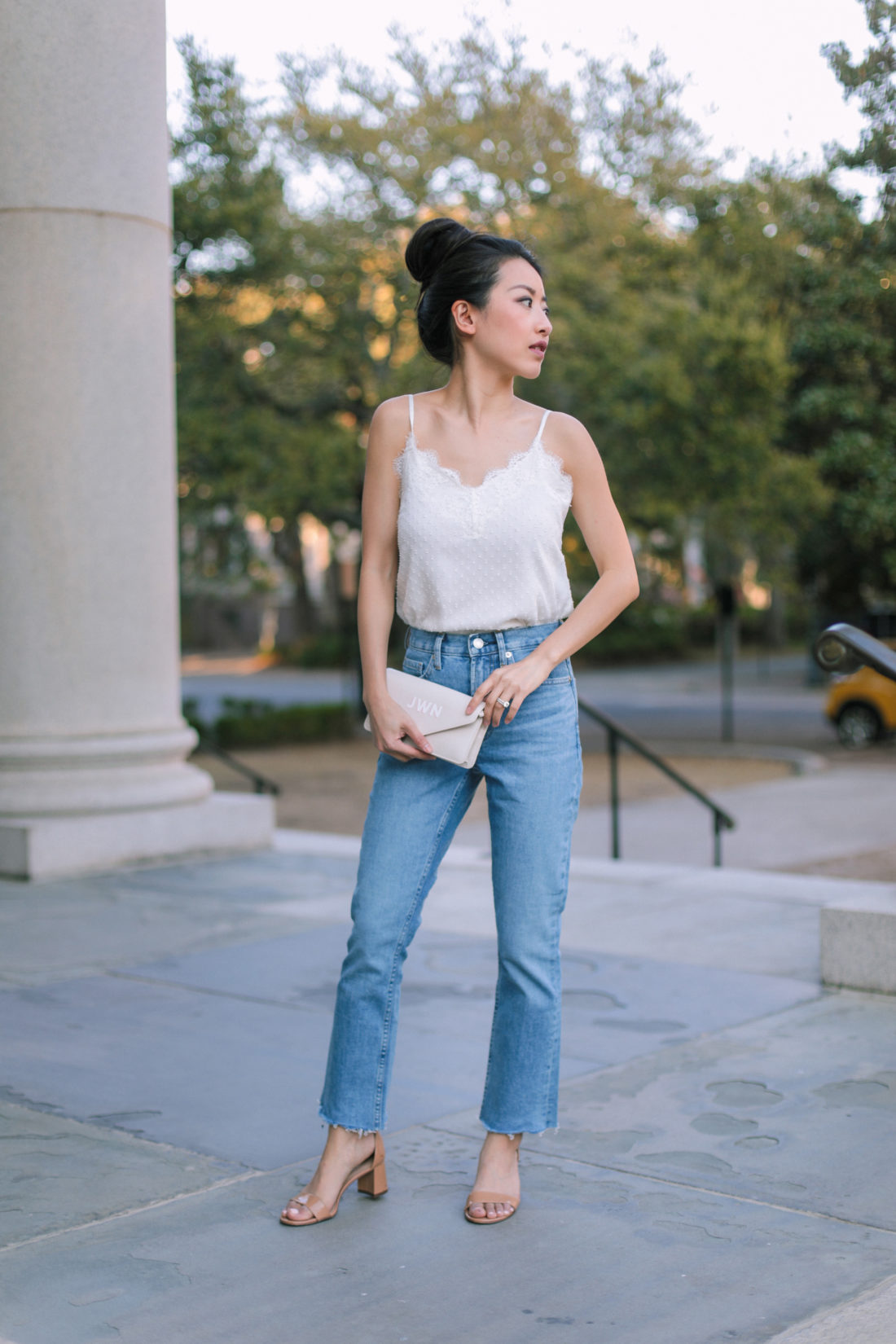 everlane kick crop jeans petite fashion blog