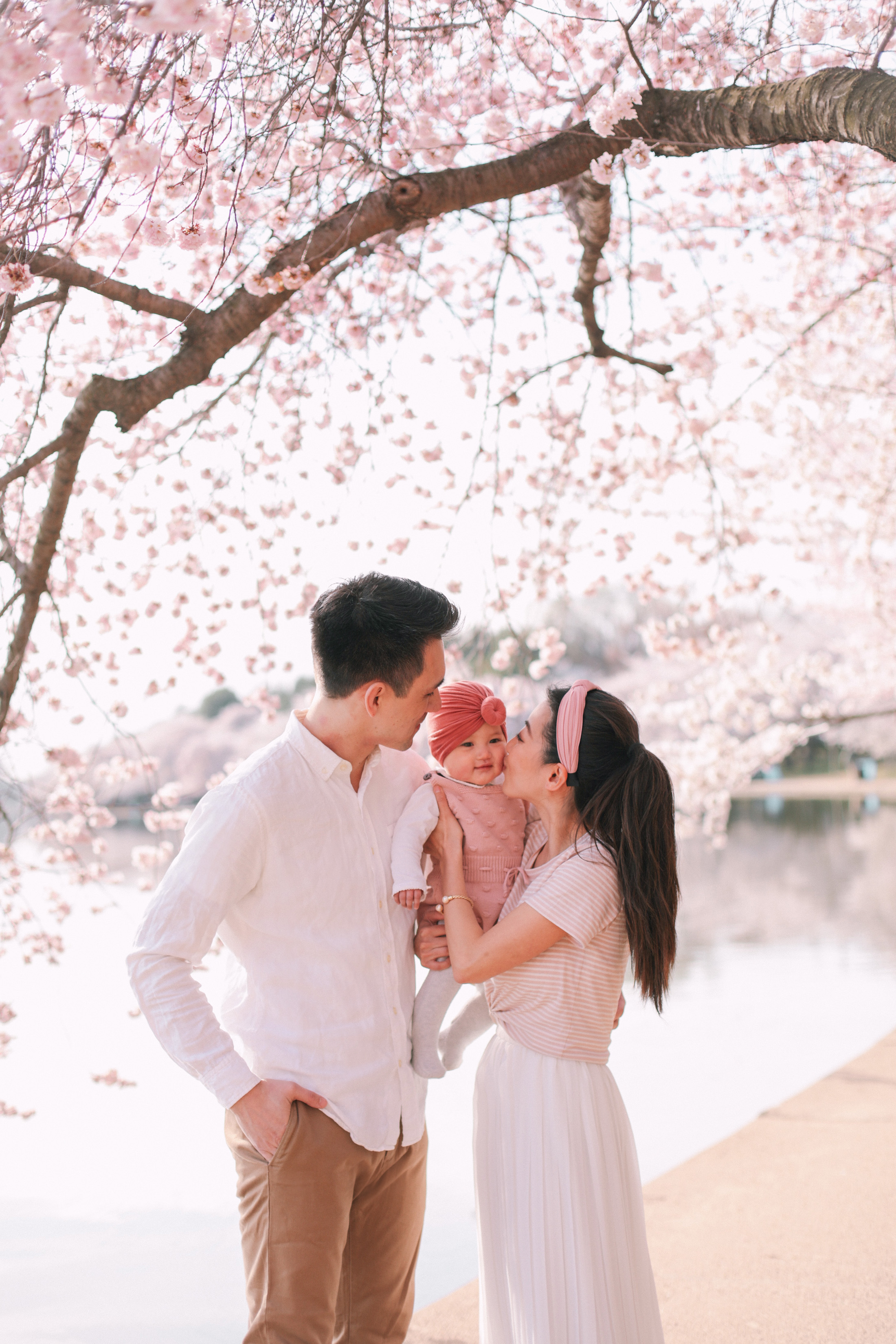 cherry blossoms spring family photo outfit ideas