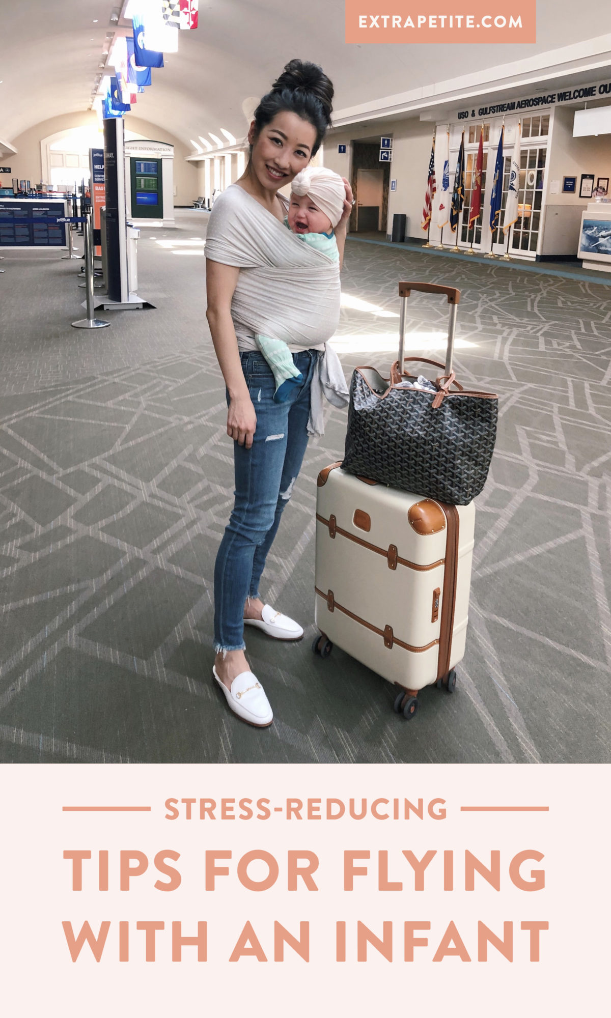 traveling with a baby tips and nursing friendly outfit