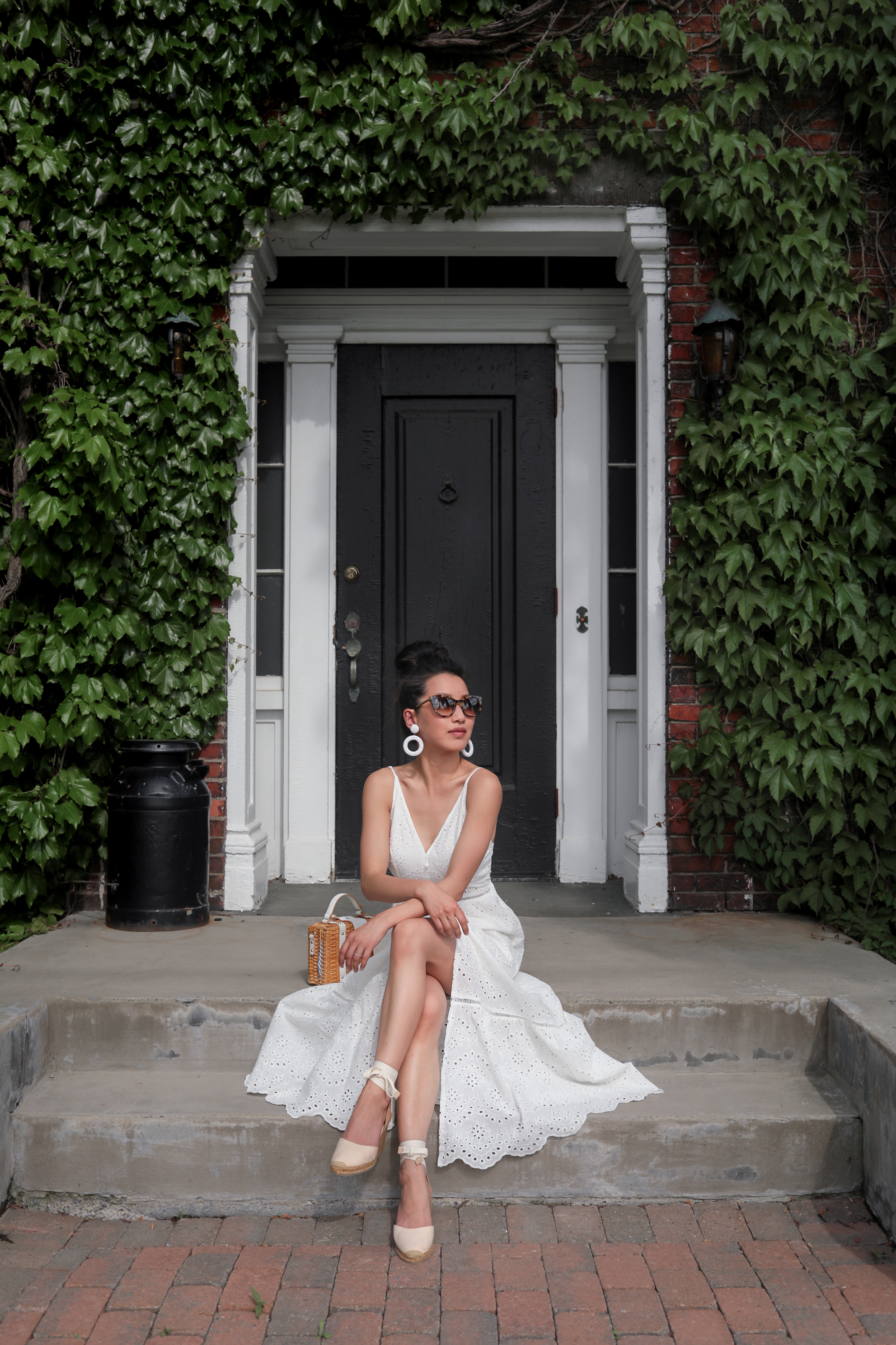 Summer whites: affordable + petite friendly eyelet dress