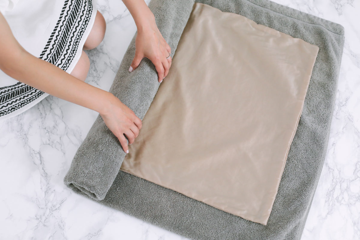 how to wash a silk pillowcase or top dress