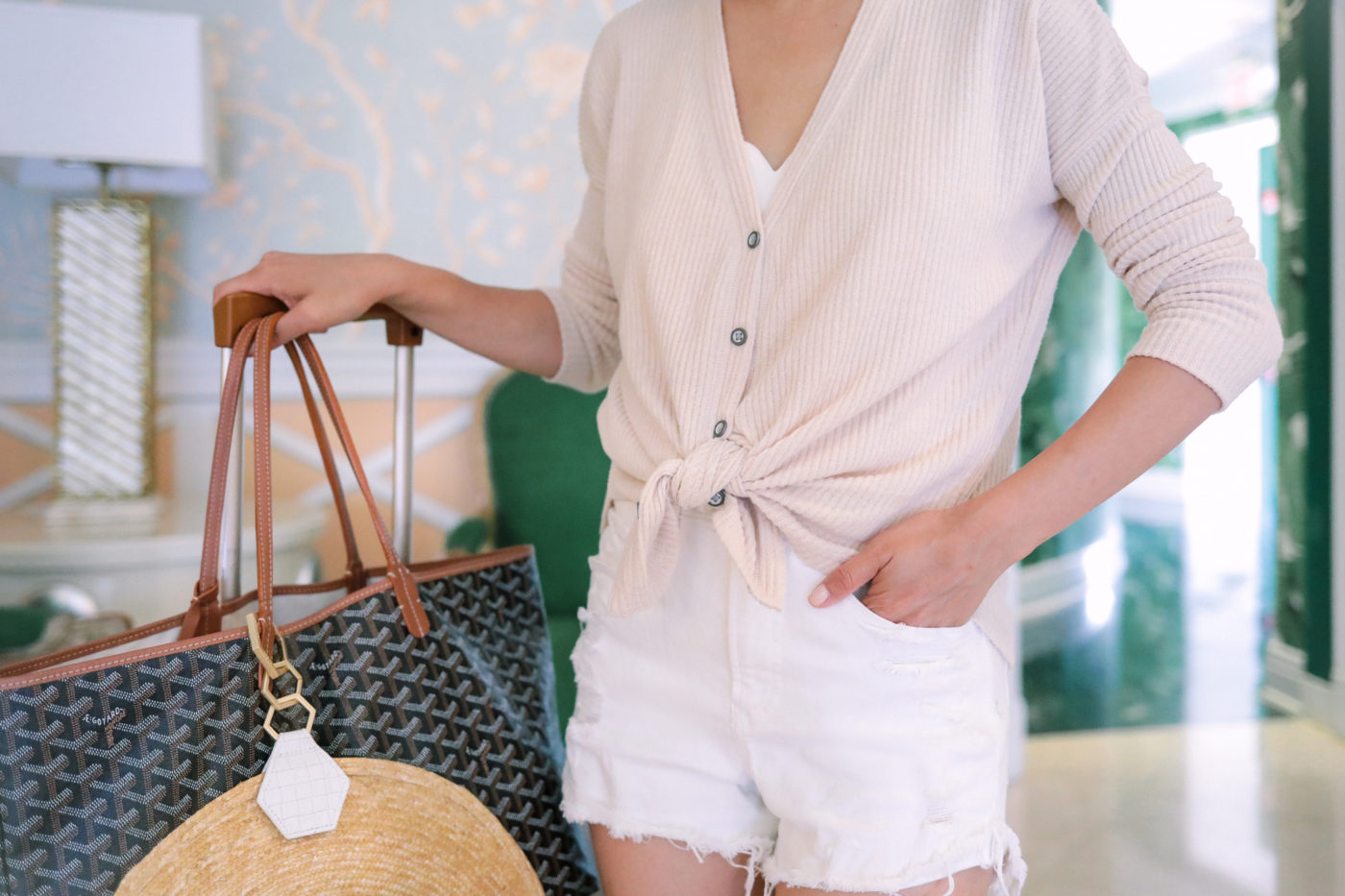 abercrombie tie waist sweater white denim shorts petite