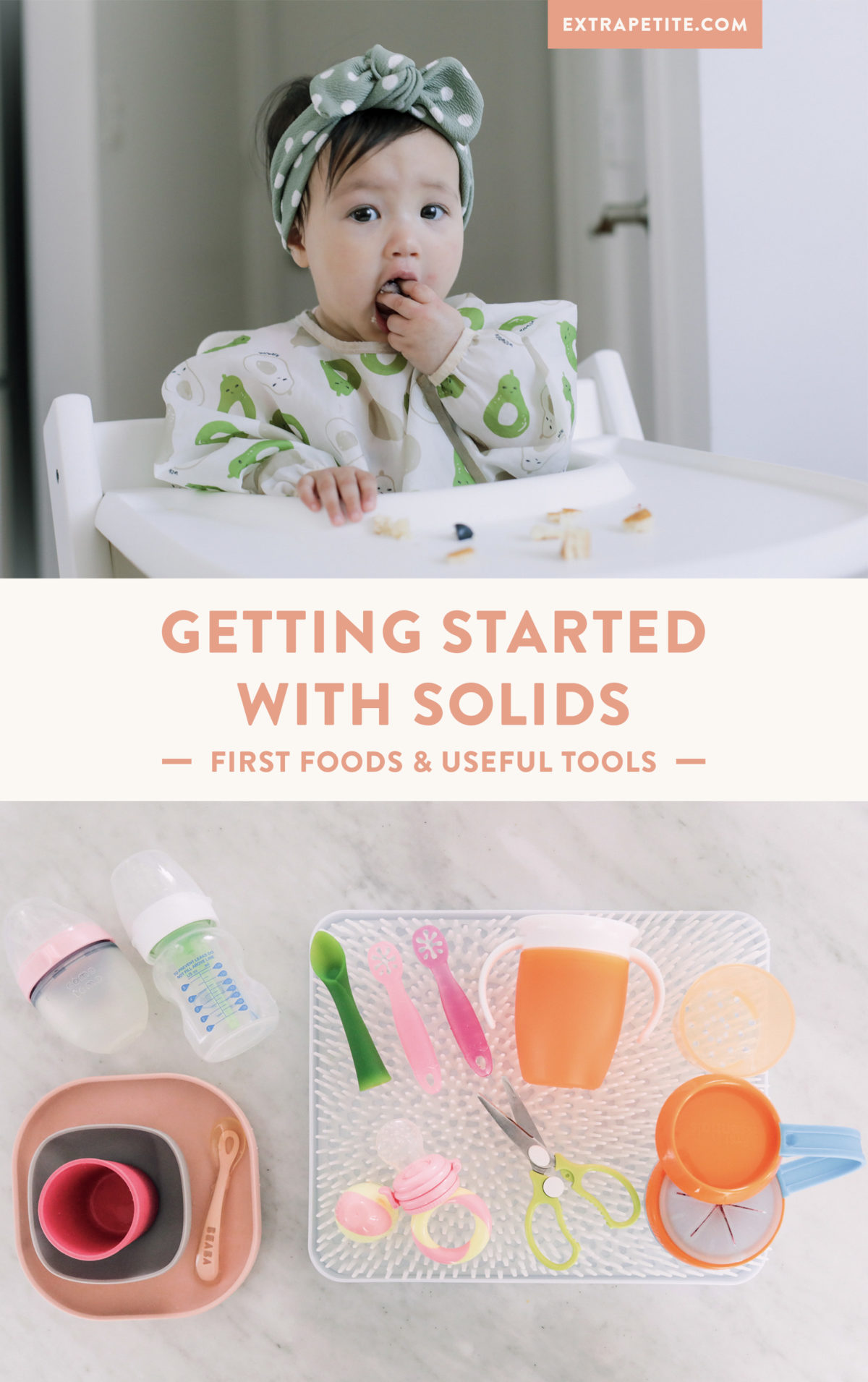 feeding baby solids first finger food ideas and tools