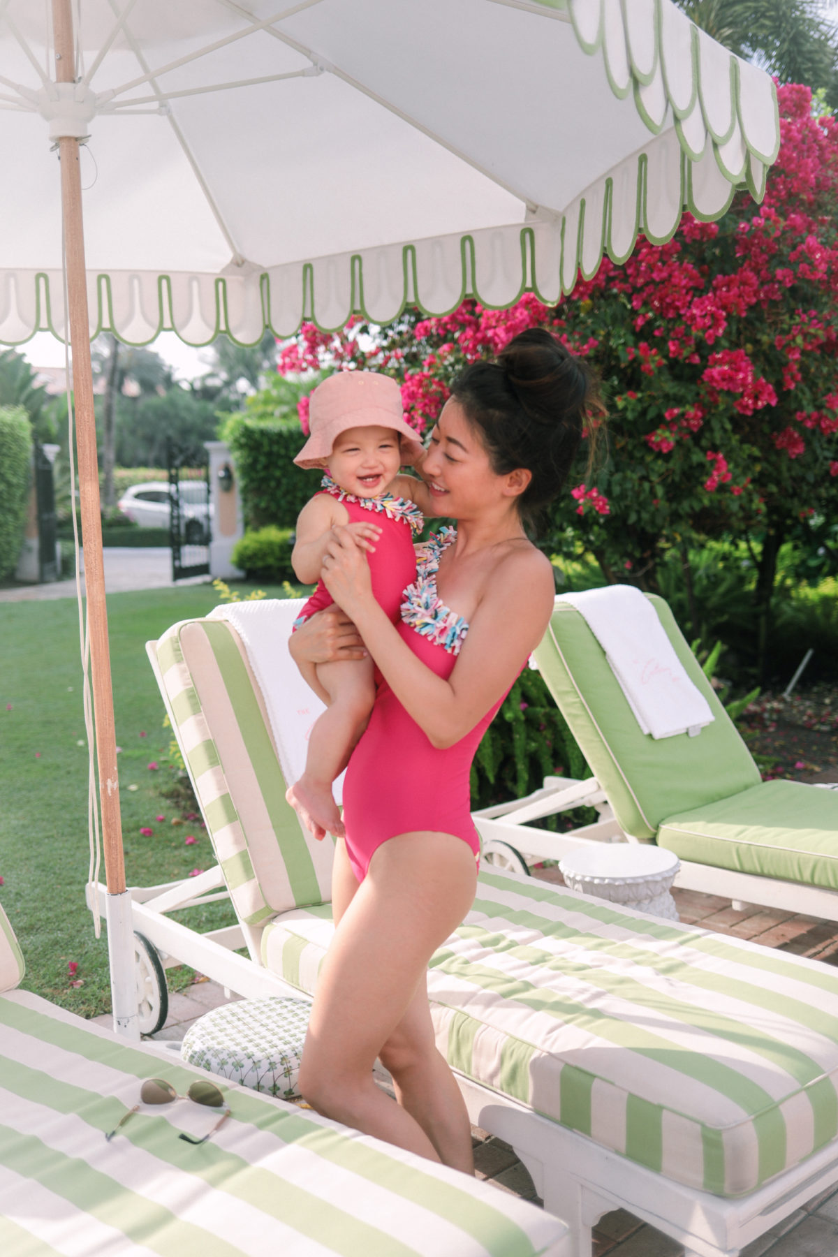 mommy and me summer outfits baby girl swimsuit beach pool
