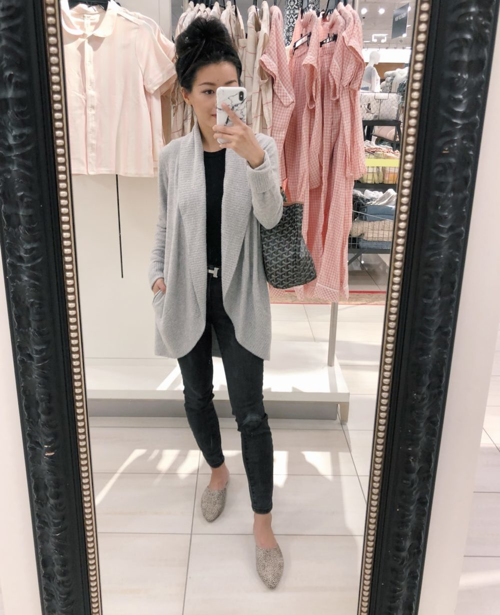 nordstrom anniversary sale barefoot dreams circle cardigan on petite