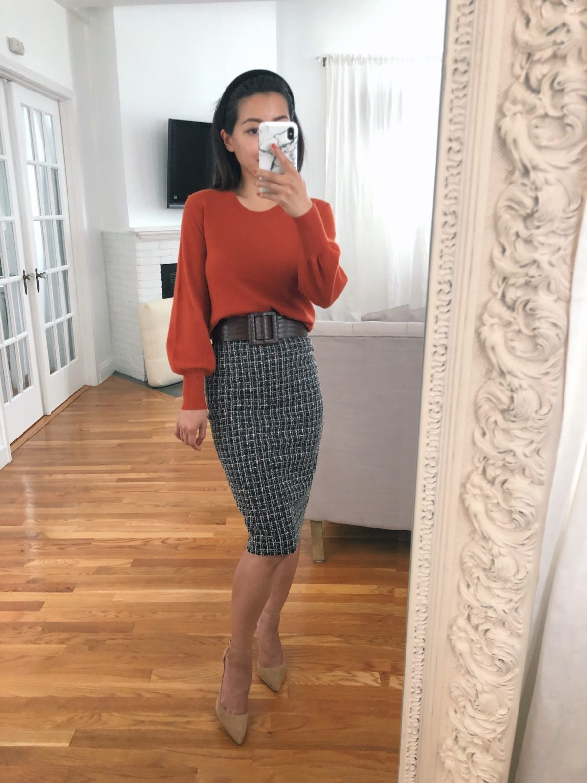 fall office outfit ideas petite fashion blog