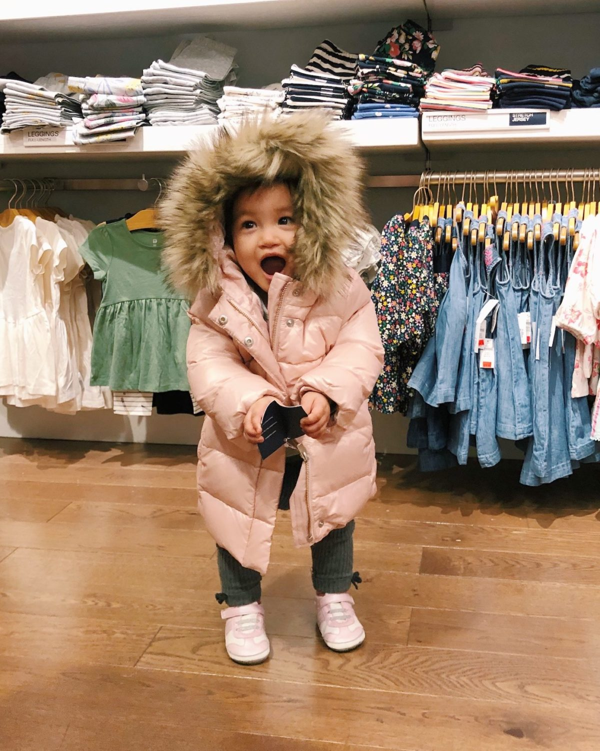 baby gap toddler girls winter puffer jacket