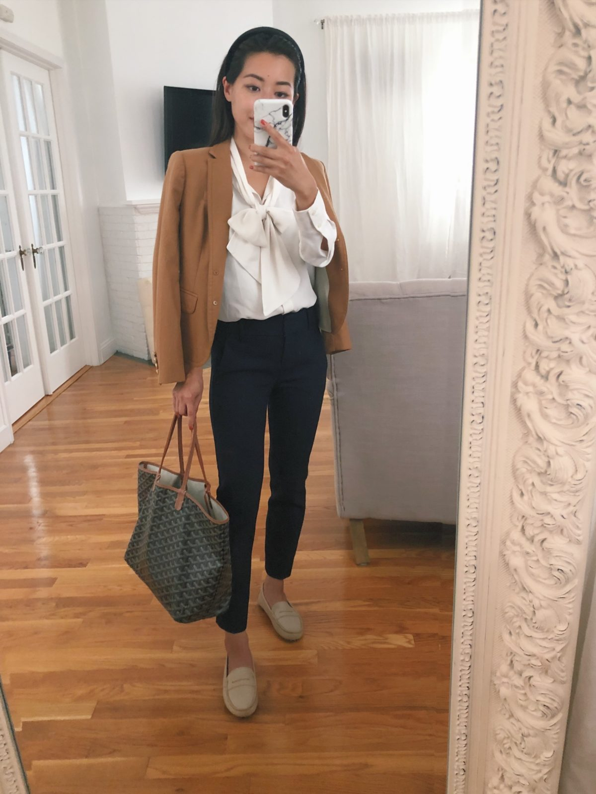 work outfit with flats ideas petite fashion blog