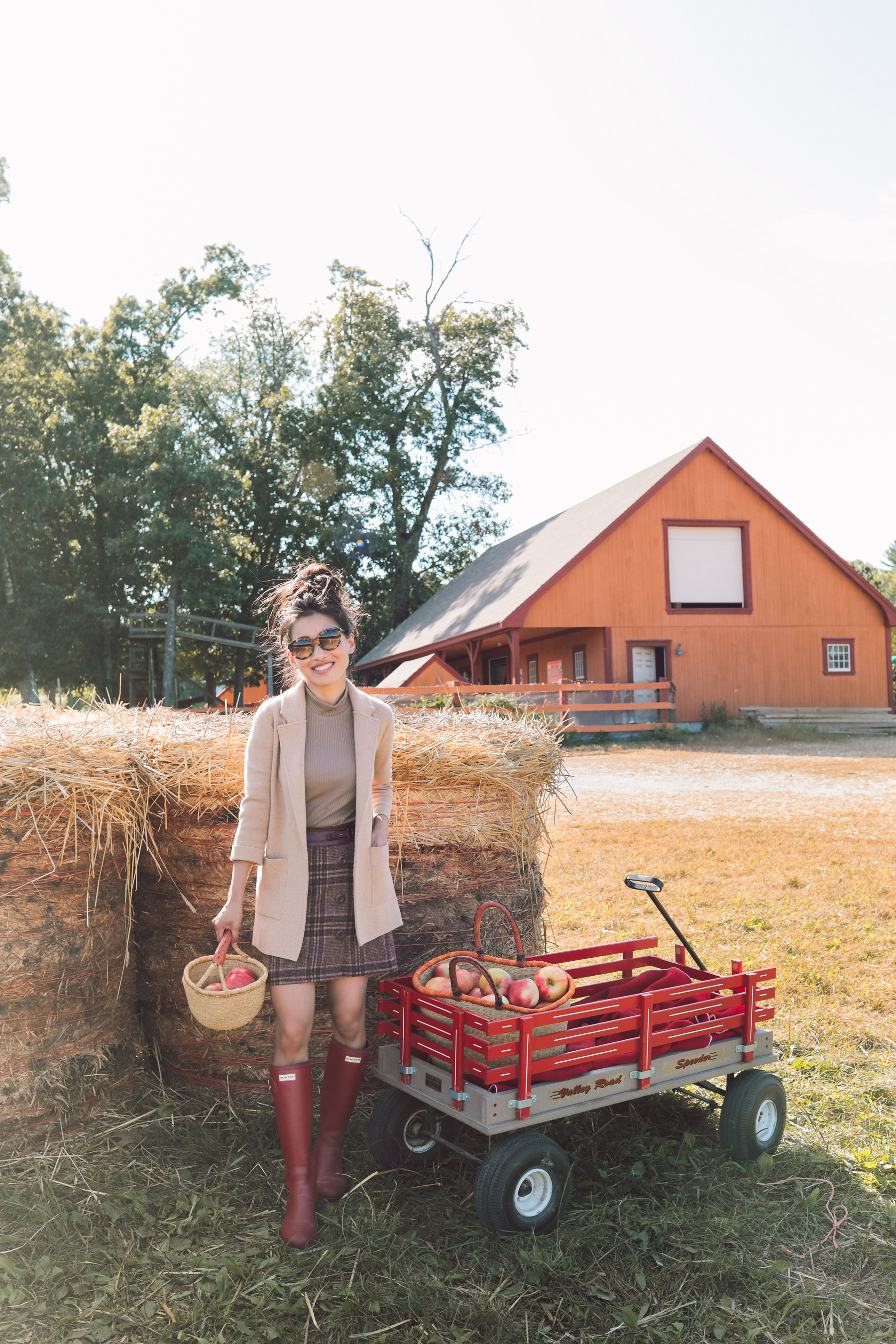 boston parlee farms apple picking jcrew sophie cardigan