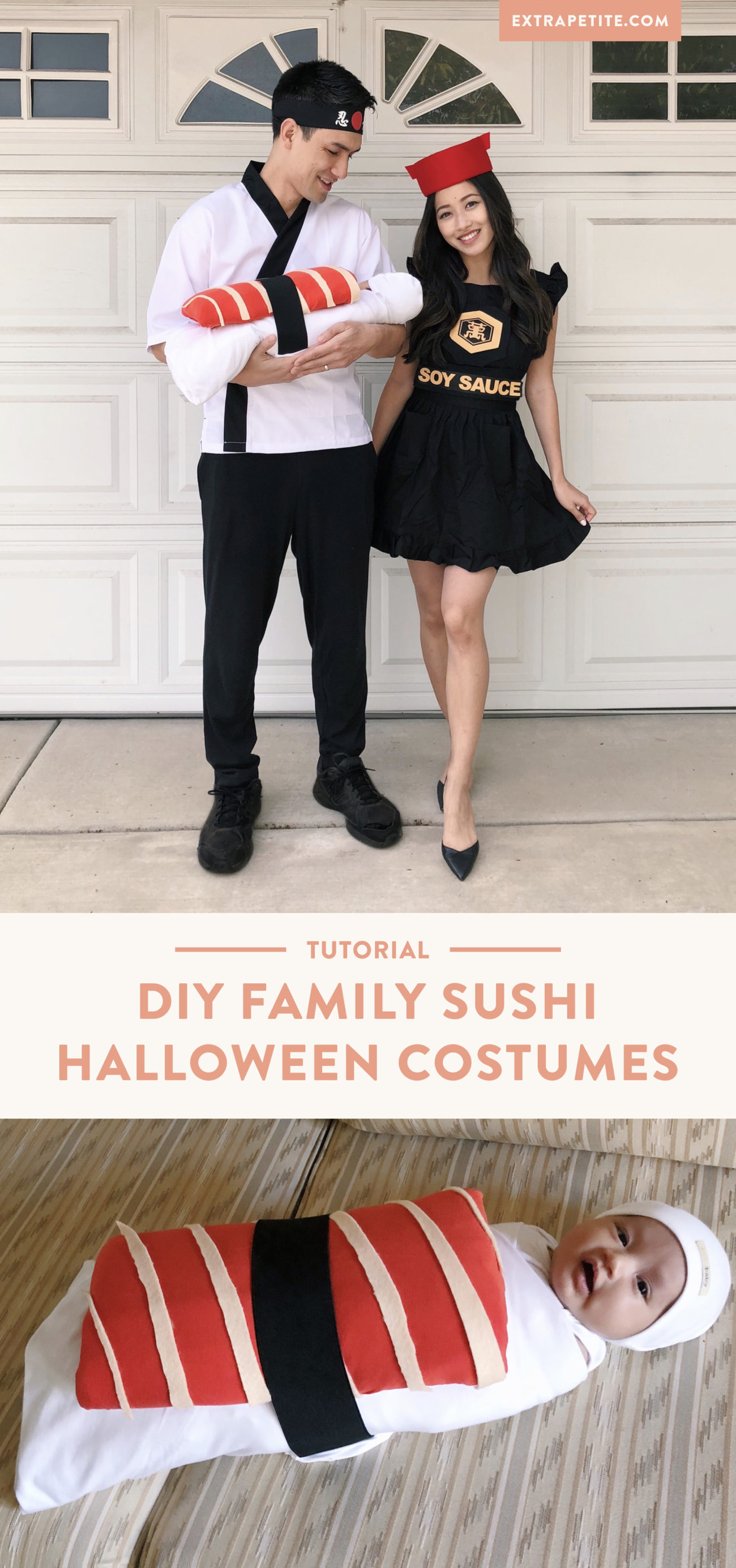 sushi baby family halloween costume diy tutorial