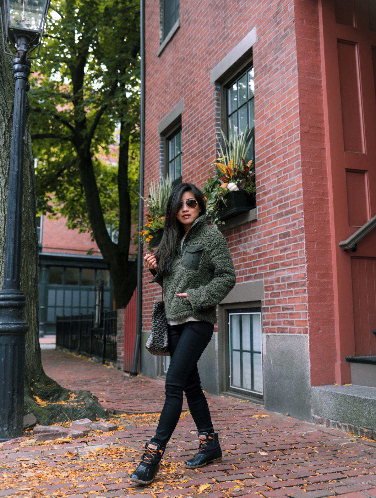 boston fall casual outfit winter boots by extra petite