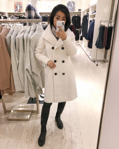 Try ons: Ann Taylor Winter Coats + ponchos