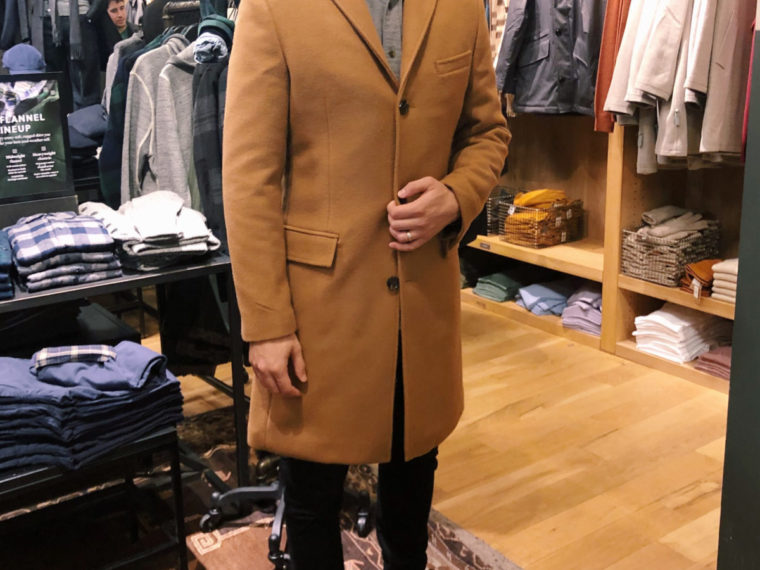 jcrew mens insulated topcoat camel coat review