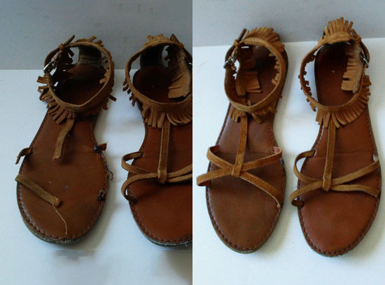 cobbler sandal strap replacement