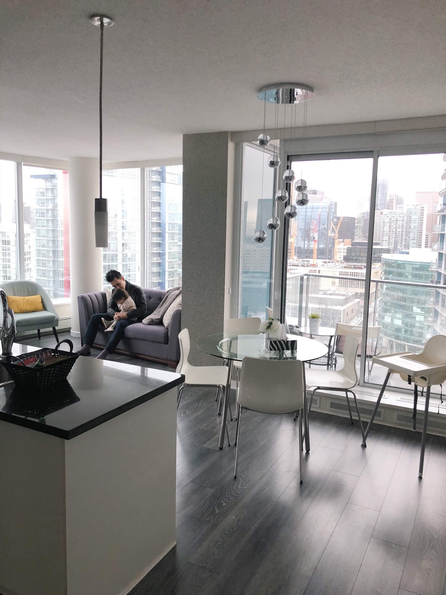 Vancouver baby friendly airbnb rental