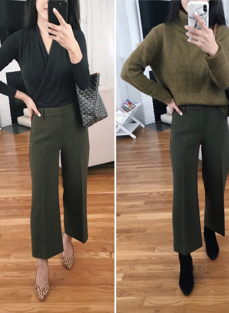 how to style culottes wide leg crop pants petite