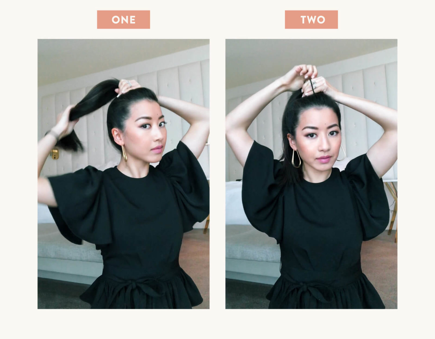 hair tutorial messy top knot