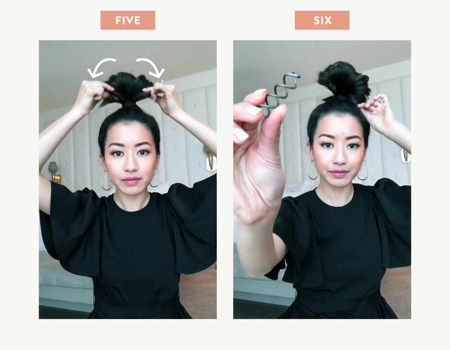 how to do a messy top knot hairstyle