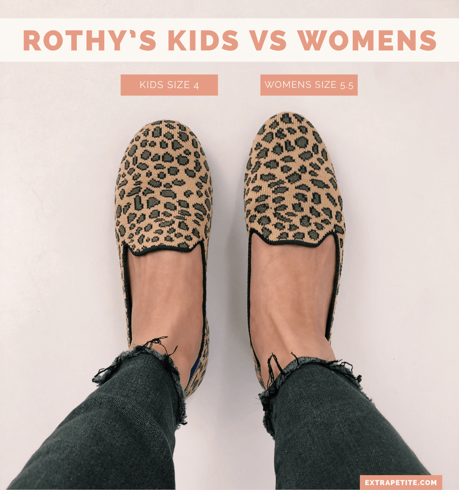 Rothy's kids vs womens