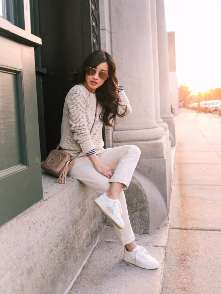 casual sneaker mom outfit ideas petite fashion blog