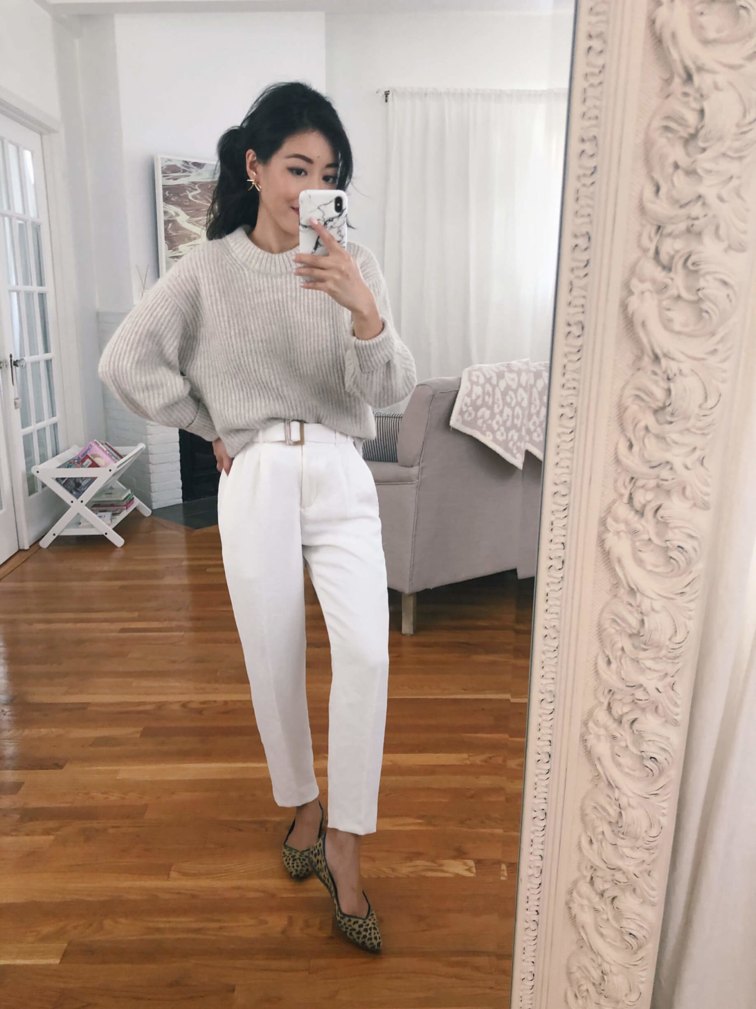 sustainable fashion Everlane sweater and Ro