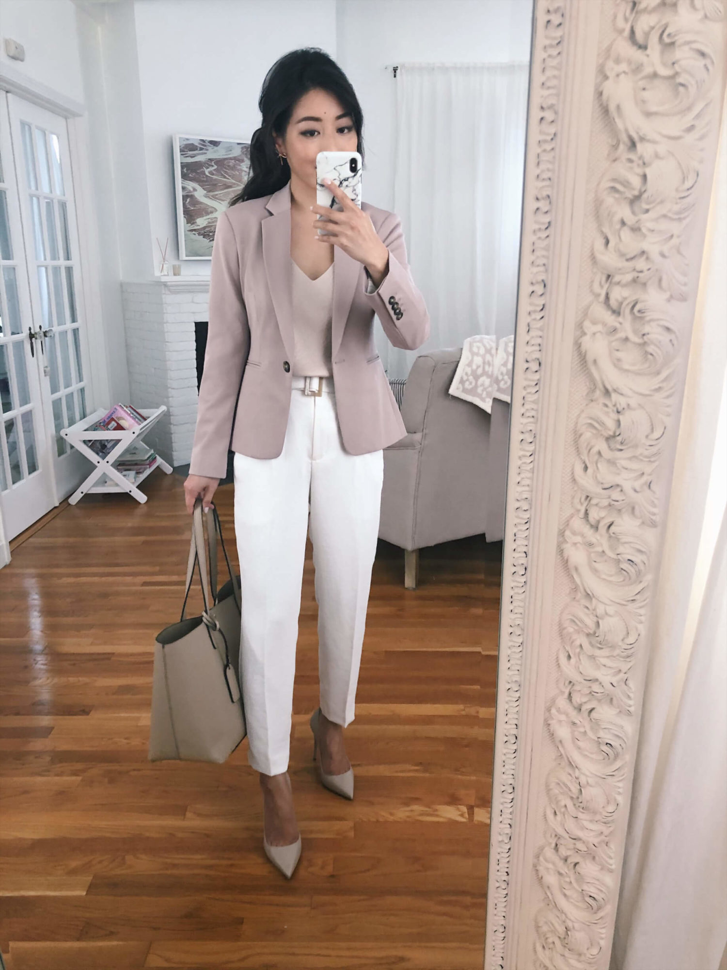 how to style white pants for the office