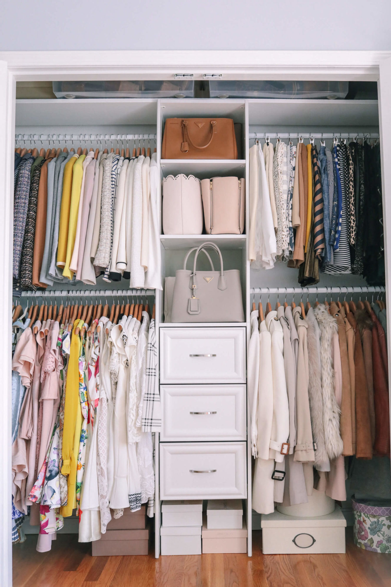 small space closet winter storage tips