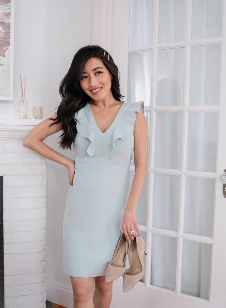 Ann Taylor petite mint dress