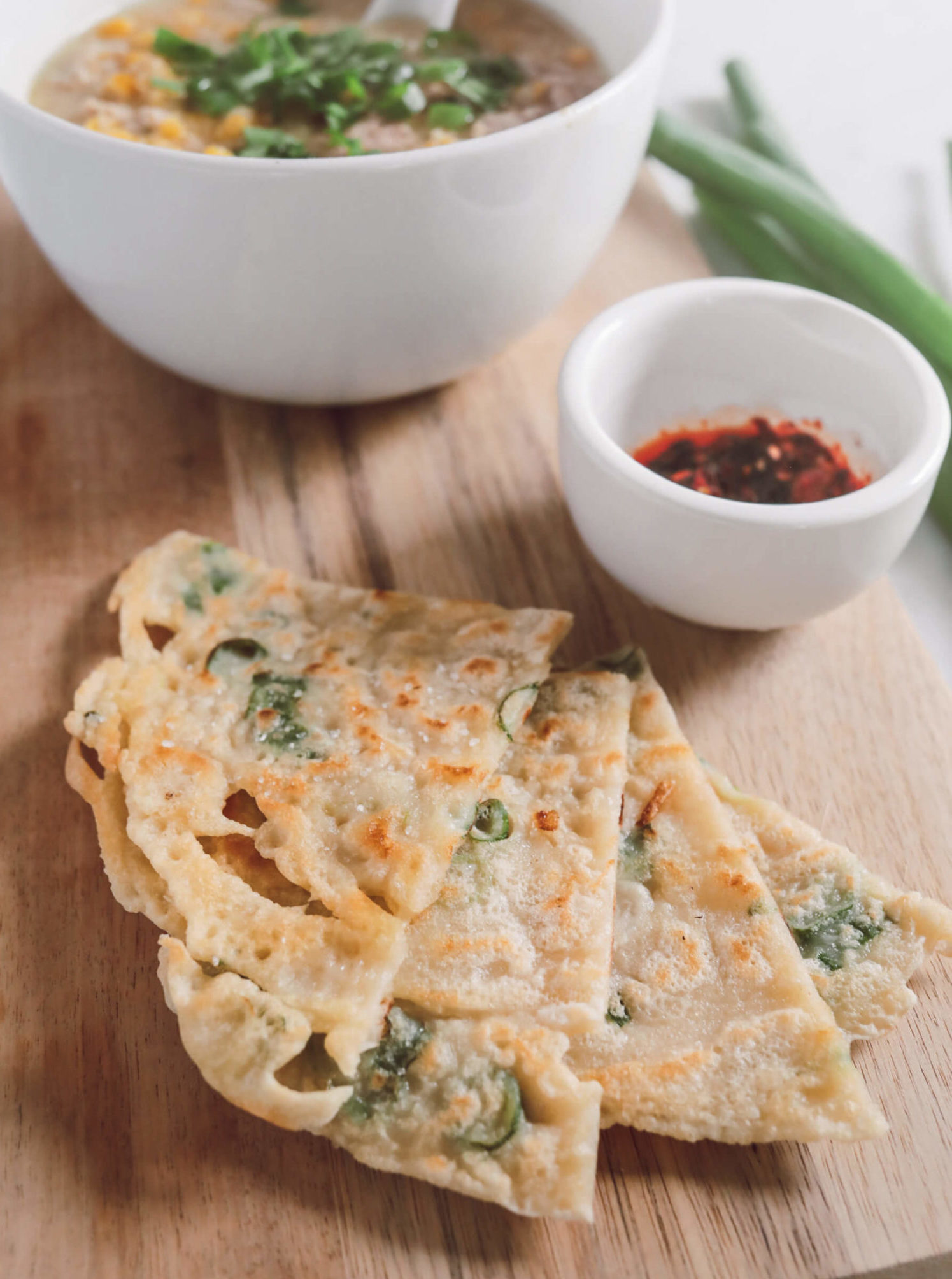 easy chinese recipes scallion pancakes shortcut