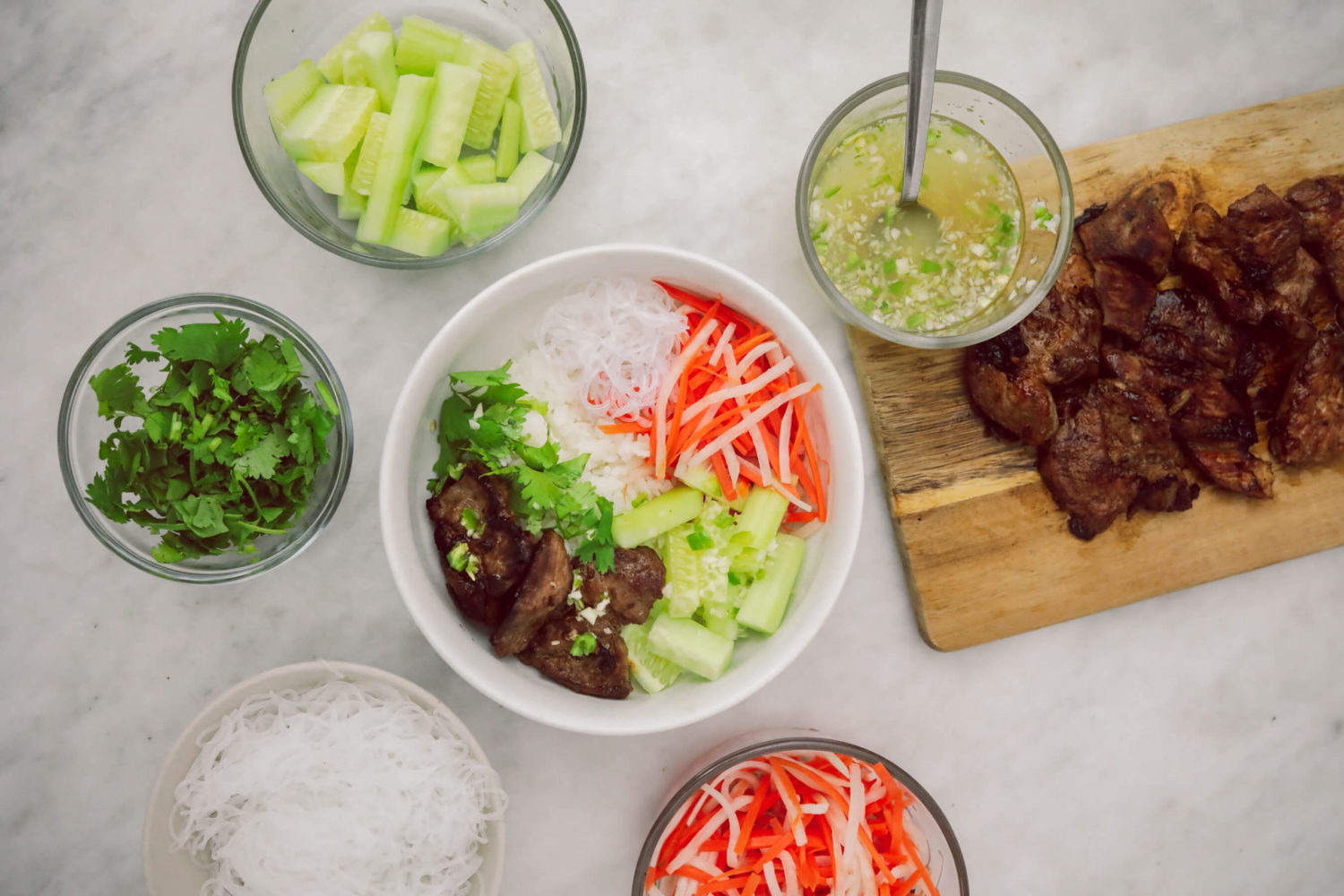 delicious vietnamese bbq pork bowl recipe