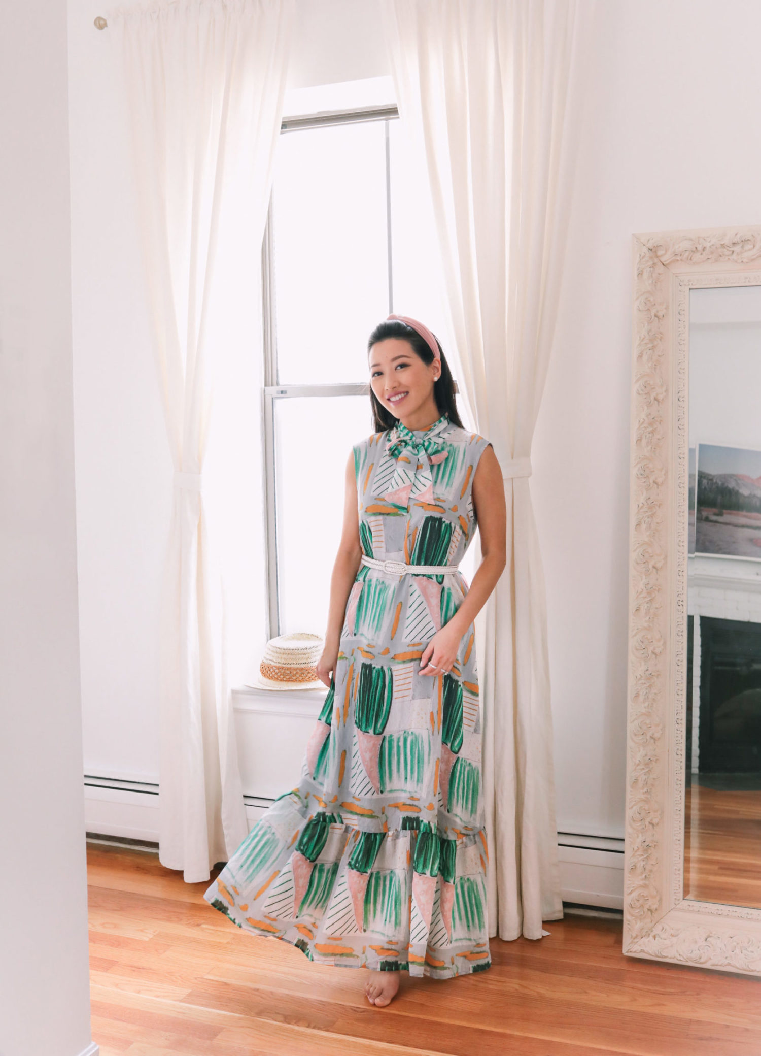 anthropologie petite maxi dress maternity spring outfit
