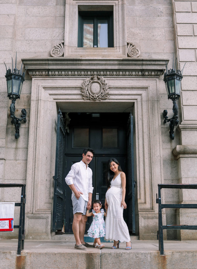 boston public library wedding anniversary maternity photos