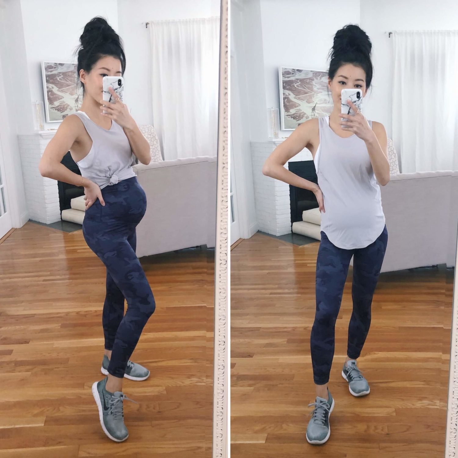petite maternity workout outfit