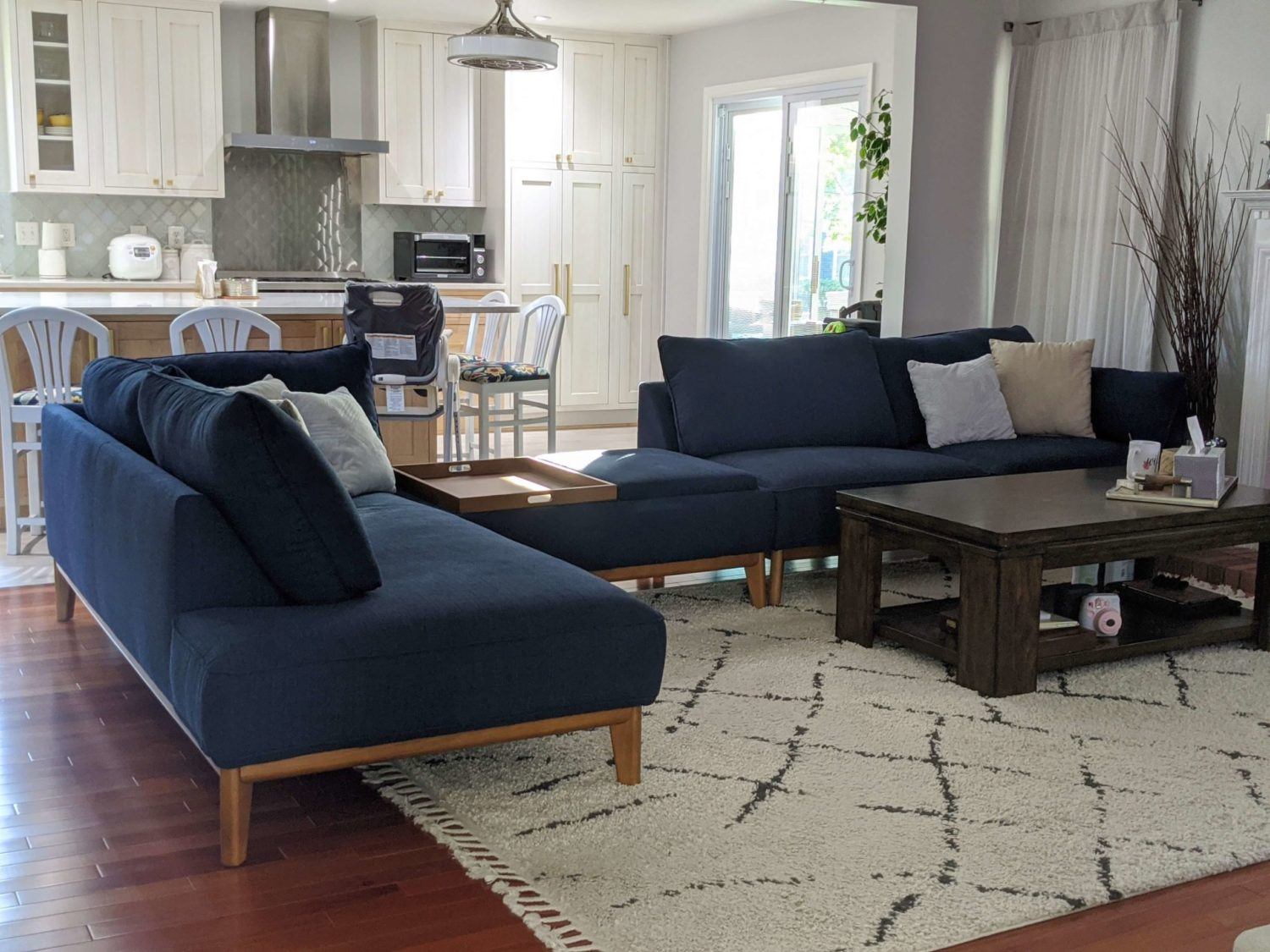 Macy's Jollene 113 sectional and ottoman