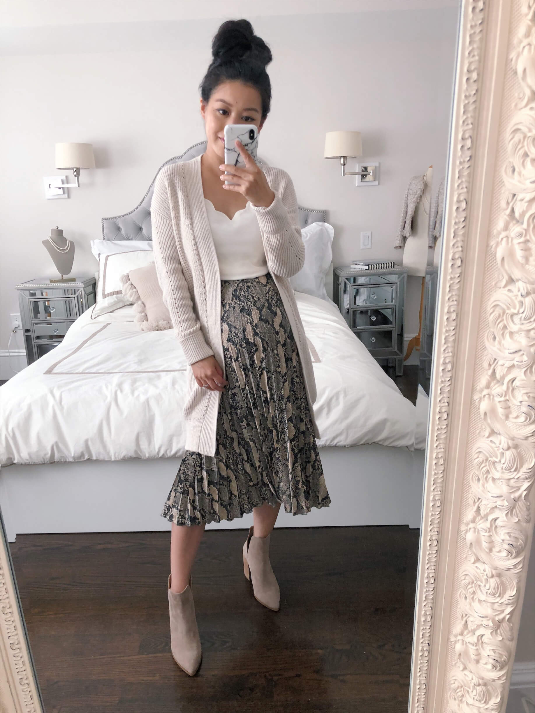 fall 2020 long cardigan outfits for petites