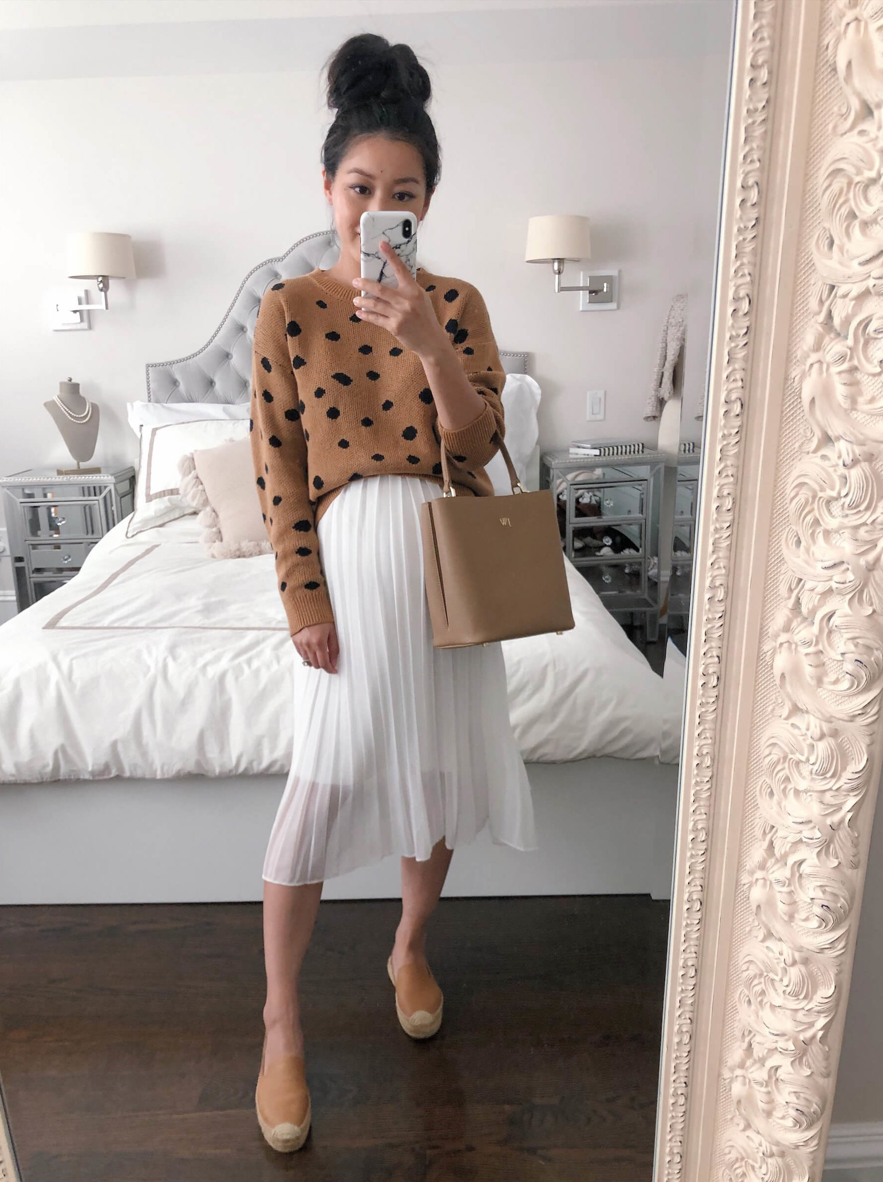 how to style a leopard sweater soludos leather flats