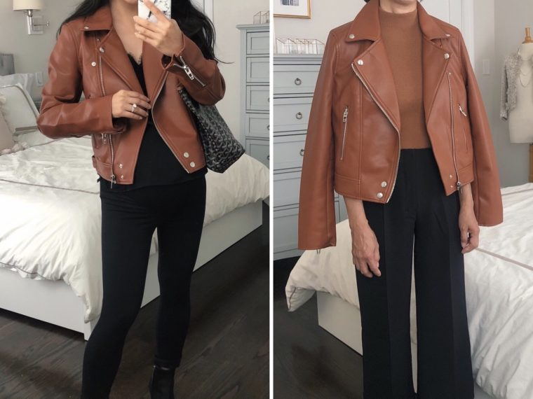 blank nyc cognac brown leather jacket nordstrom sale